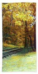 Rail Road Crossing To Neverland Beach Towel