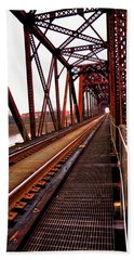 Beach Towel featuring the photograph Railroad 2 by Ester Rogers