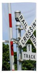 Railroad Crossing Beach Towel