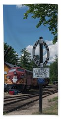 Railroad Crossing Beach Towel by Suzanne Gaff