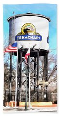 Beach Towel featuring the photograph Railroad Park Tehachapi California by Floyd Snyder