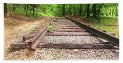 Railroad Tracks To Neverland Beach Towel