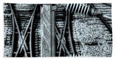 Beach Towel featuring the photograph Railway Detail by Wayne Sherriff