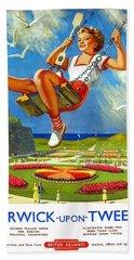 Railway Travel Poster Berwick-upon-tweed Lance Cattermole. Beach Towel
