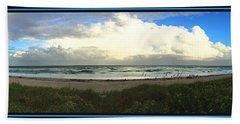 Rain And A Bow Beach Towel by Steven Lebron Langston