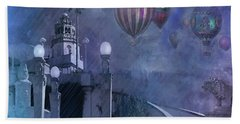 Rain And Balloons At Hearst Castle Beach Towel