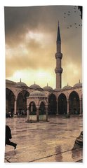 Rain At The Blue Mosque Beach Towel