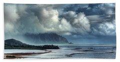 Rain Clearing Kaneohe Bay Beach Towel