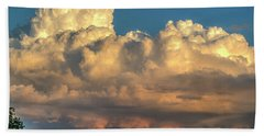 Rain Clouds Over The Prairie Beach Towel