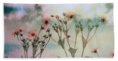 Rain Dance Among The Flowers Beach Sheet by Elaine Manley