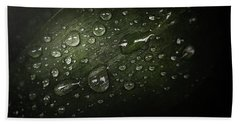 Rain Drops On Leaf Beach Towel