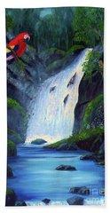 Rain Forest Macaws Beach Towel