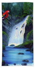Rain Forest Macaws Beach Towel