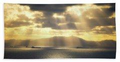 Rain Of Light Beach Sheet