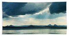 Rain On The Glass Mountains Beach Sheet