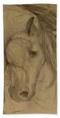 Beach Towel featuring the drawing Rain Shadow - Grey Version by Jani Freimann