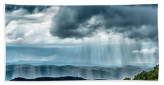 Beach Towel featuring the photograph Rain Shower Staunton Parkersburg Turnpike by Thomas R Fletcher