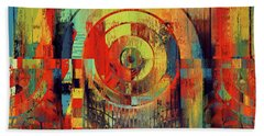 Beach Towel featuring the digital art Rainbolo - 01t01ii by Variance Collections