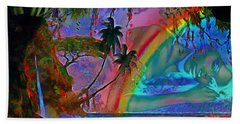 Rainboow Drenched In Layers Beach Towel