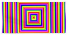 Beach Towel featuring the digital art Rainbow #1 by Barbara Tristan