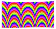 Beach Sheet featuring the digital art Rainbow #4 by Barbara Tristan