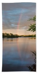 Beach Towel featuring the photograph Rainbow After The Storm by Beth Sawickie