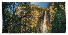Rainbow And Bridalveil Fall Beach Towel