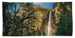 Rainbow And Bridalveil Fall Beach Sheet
