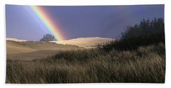Rainbow And Dunes Beach Towel