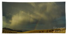 Rainbow And White Light-signed-#9456 Beach Towel