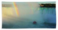 Rainbow At Horseshoe Falls Beach Towel