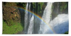 Rainbow At Iguazu Falls Beach Towel