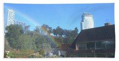 Rainbow At The Falls Beach Towel