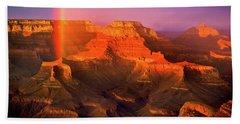 Rainbow At The Grand Canyon Beach Towel
