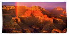 Rainbow At The Grand Canyon Beach Towel