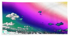 Rainbow Borealis Beach Towel