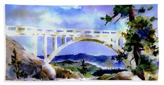Rainbow Bridge Above Donnerlk#2 Beach Towel