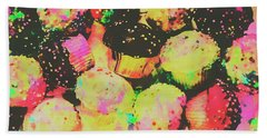 Rainbow Color Cupcakes Beach Towel