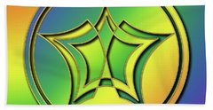 Beach Towel featuring the digital art Rainbow Design 1 by Chuck Staley