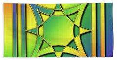 Beach Sheet featuring the digital art Rainbow Design 6 by Chuck Staley