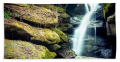Beach Towel featuring the photograph Rainbow Falls At Dismals Canyon by David Morefield