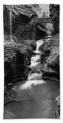 Rainbow Falls Gorge - Watkins Glen Beach Towel