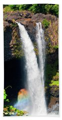 Beach Towel featuring the photograph Rainbow Falls I by Patricia Griffin Brett