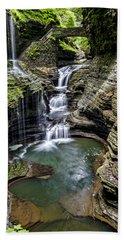 Rainbow Falls - Watkins Glen Beach Towel