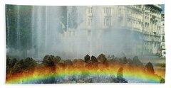 Beach Sheet featuring the photograph Rainbow Fountain In Vienna by Mariola Bitner
