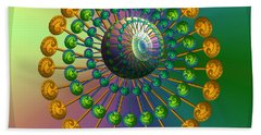 Rainbow Fractal Beach Towel