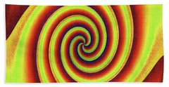 Rainbow Fun With Texture Beach Towel by Tom Janca