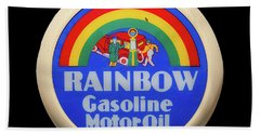 Rainbow Gasoline Beach Towel