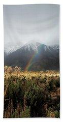 Rainbow In Eastern Sierra Nevadas Beach Sheet