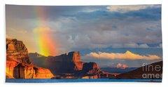 Rainbow In The Padre Bay, Lake Powell Beach Towel